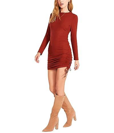 BB Dakota by Steve Madden # 1 Crush Long Sleeve Adjustable Rib Knit Mini Dress