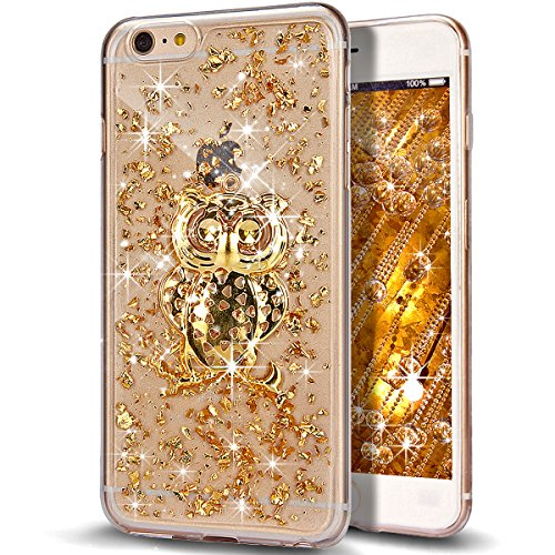 iPhone 6S caso, iPhone 6 caso, con NSSTAR trisunuk holyskinz brillante Giltter TPU transparente de marco brillanntes transparente funda de silicona para Apple iPhone 6/6S 11,94 cm