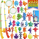CozyBomB Magnetic Fishing Pool Toys Game for Kids - Water Table Bathtub Kiddie Party Toy with Pole...