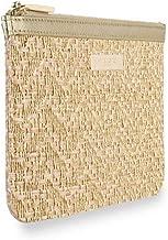 Katie Loxton Metallic Accented Women's Straw Weave Clutch Callie Slim Pouch