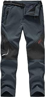 Gopune Men's Waterproof Ski Snow Pants Warm Hking Winter Insulated Trousers