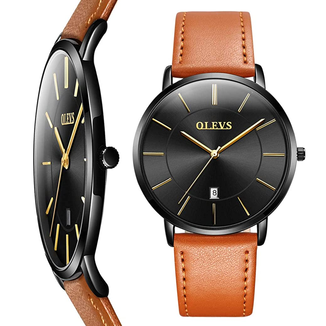 Amazon's Top hot-selling watches,men's watches,holiday gifts,Thin Mens Watches,Men's Watch Blue/White/Black Dial Wrist Watches,Mens Leather Watch Black\Yellow\Brown Simple Men Business Watch with Date,Waterproof Quartz Casual Watch,Men's Watches kqcs1595634323