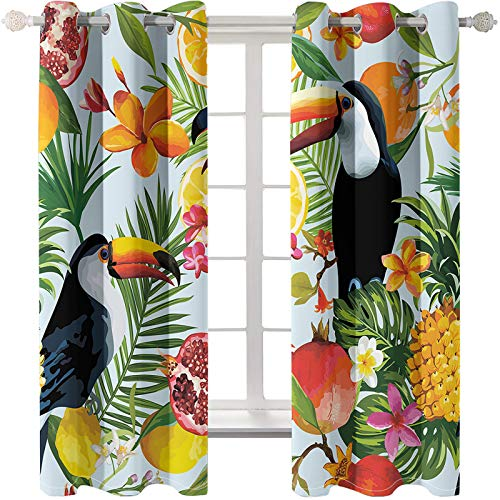Modern And Simple Bird Series Printed Living Room Curtains Without Perforation And Easy To Install Bedroom Blinds Can Be Used In Study Rooms, Balcony Bay Windows