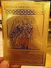 Yugioh The Creator God of Light, Horakhty custom Golden Metal Card English New