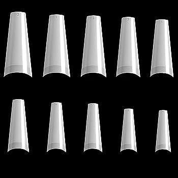 Nail Tips, Niuta 500pcs Lady French Acrylic Style Artificial False Nails Half Tips (Natural)