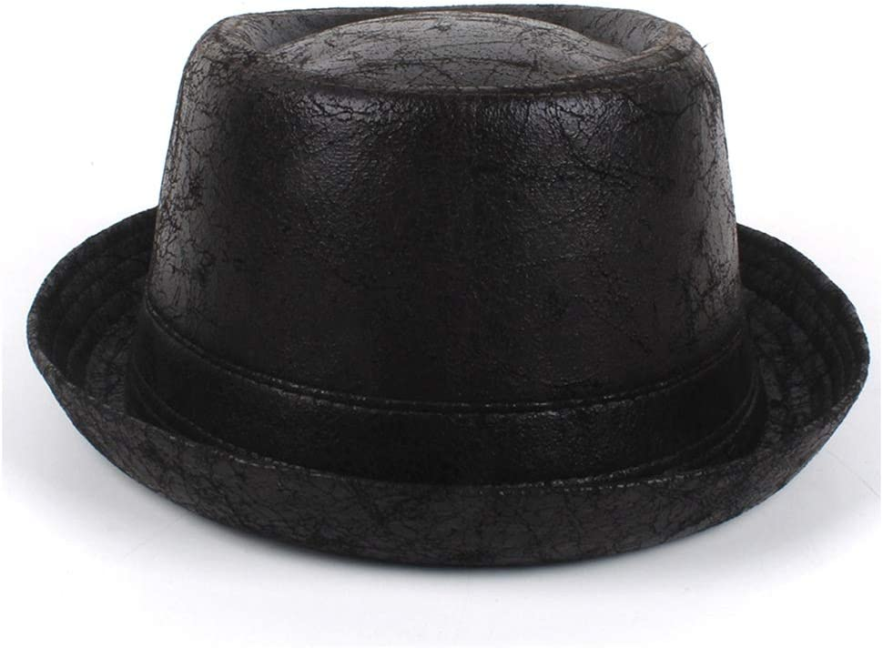 Recommendation Leather Hat for Men Fedora Jazz B Japan's largest assortment Dad Flat Gentleman