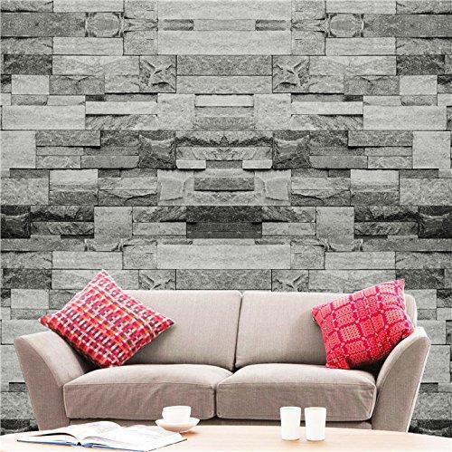 Hyfive-Wallpaper 3D Effekt - Natürliche-grauen Stein Farbe - 10 x 0,53 m