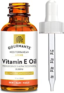 100% Natural Vitamin E Oil - For Skin, Hair and Nail Health - Nourishing Pure Vitamin E Oil For Skin - No Synthetic Ingred...