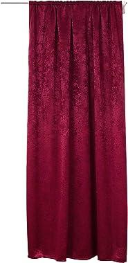WOLTU Rideau en 100% Polyester Effet Velours occultant 135x245cm Déco Maison Suspension avec Passe-Tringle Bordeaux VH5506