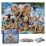 WolinTek Puzzle Classici 1000 Pezzi per gli Adulti, Jigsaw Puzzles Bambini, materiale riciclabile,Intellettuale Educativo Divertente Gioco per Famiglie,regalo per amore e amico (Mondo degli animali)