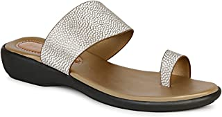 Twin Spark Comfortable Light Weight Women's Laser-Cut Fashion Sandal with Small Stone on Strap design