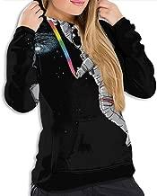 Pullover Hoodie Hooded Sweatshirt for Women Girls Ladies, Athletic Tops