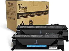 V4INK 2PK Compatible Toner Cartridge Replacement for HP 05A CE505A Toner Cartridge for use in HP LaserJet P2035 P2035n P2055dn P2055 P2055d , Pro 400 m401n m401dne m401dw MFP M425dN M425dw Printer Ink