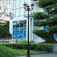 FEE-ZC屋外3ヘッド照明ハイポール街路灯アルミニウムポールライトコートヤードスーパーブライトパスライトコミュニティ街路灯レトロクリエイティブ防水防錆カラムライト