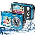 Waterproof Digital Camera Underwater Camera Full HD 2.7K 48MP Waterproof Camera with Dual Screen | 16X Digital Zoom | Flashlight from S & P Safe and Perfect