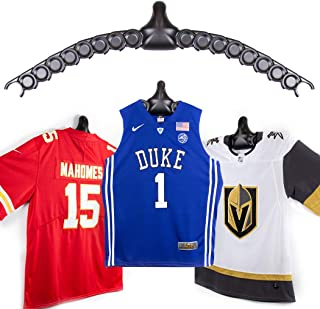 ChalkTalkSPORTS JerseyGenius | The Ultimate Display for All Jerseys | Shapes to Fit Any Sports Jersey | Versatile Hanger and Wall Display