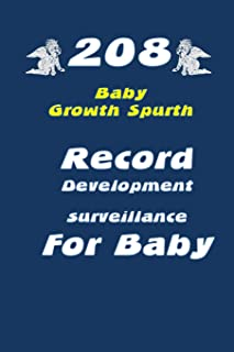 208 Baby Growth Spurts: The Tables help to record Development surveillance for Baby