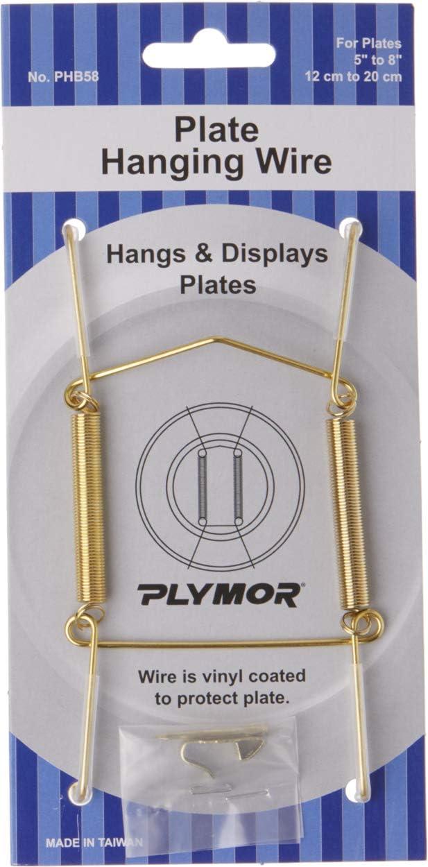 Plymor Shiny Gold San Francisco Mall Finish Wall Mountable Plate 4 Pack Hanger 2 Popular popular