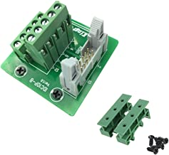Sysly IDC10 2x5 Pins Male Header Breakout Board Terminal Block Connector with Simple DIN Rail Mounting feet