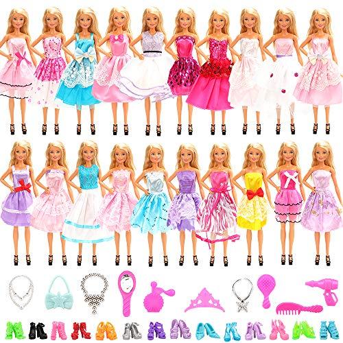 Miunana 30 Accessori Selezionati A Caso per 11.5 Pollici 28 - 30 cm Bambola: 10 Vestiti Abiti + 10 PCS Scarpe + 10 Accessori