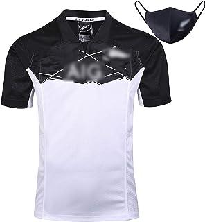 ラグビージャージラグビー服100周年記念版 2019ニュージーランドオールブラックスセブンズホームアウェイゲームラグビーウエアメンズ半袖ラグビー