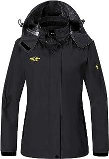 Wantdo Women's Hooded Outerwear Hiking Wind Shell Jacket Rain Coat