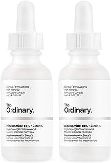 2X 'The Ordinary'. Niacinamide 10% + Zinc 1%. Serum