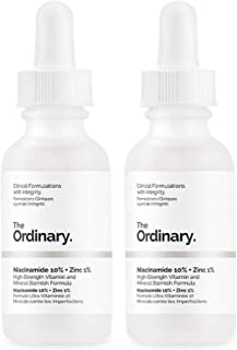 2X 'The Ordinary' Niacinamida 10% + Zinc 1% Serum ANTIROJECES 30 ml, formulaciones clínicas con integridad.