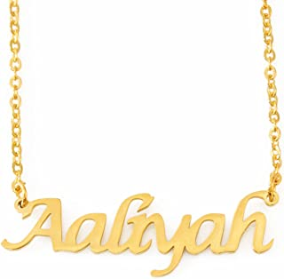 Zacria Aaliyah Name Necklace - 18ct Gold Plated