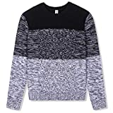 BOBOYOYO Boys Sweater Pullover Kids Long Sleeve Round Neck Cotton Cable Knit Sweater Casual Wearing for Size 5-14Y Black