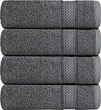 Utopia Towels Luxury Bath Towels, 4 Pack, 27x54 Inch, 700 GSM Hotel Towels, Dark Grey