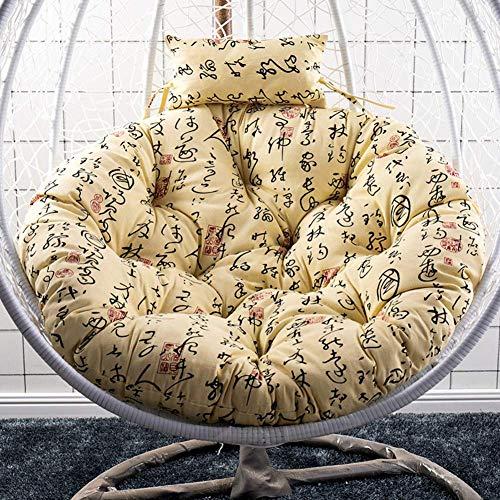 ACEMIC Cojín de Asiento de sillas de Cesta Colgante Redondo, cojín de Asiento de Piso de Silla de Hamaca de jardín de Patio de Huevo Grueso Grueso sin cojín de Silla de Soporte-A 105cm (41 Pulgadas