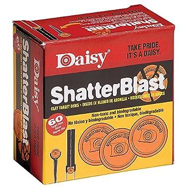Daisy Shatterblast Breakable Refill Target 2  Disks (60 Pack)