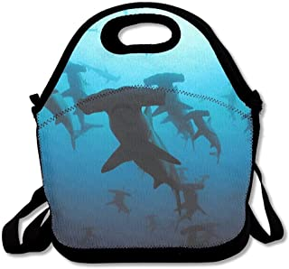 Lunch Bag Lunch Tote Baby Hammerhead Sharks Extra Large Gourmet Food Handbag