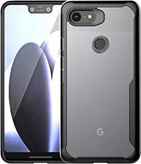BAISRKE Google Pixel 3 XLCase, Slim Shock Absorption Protective Cases Soft TPU Rubber Bumper & Clear Hard Plastic Back Cover for Google Pixel 3 XL (Black)
