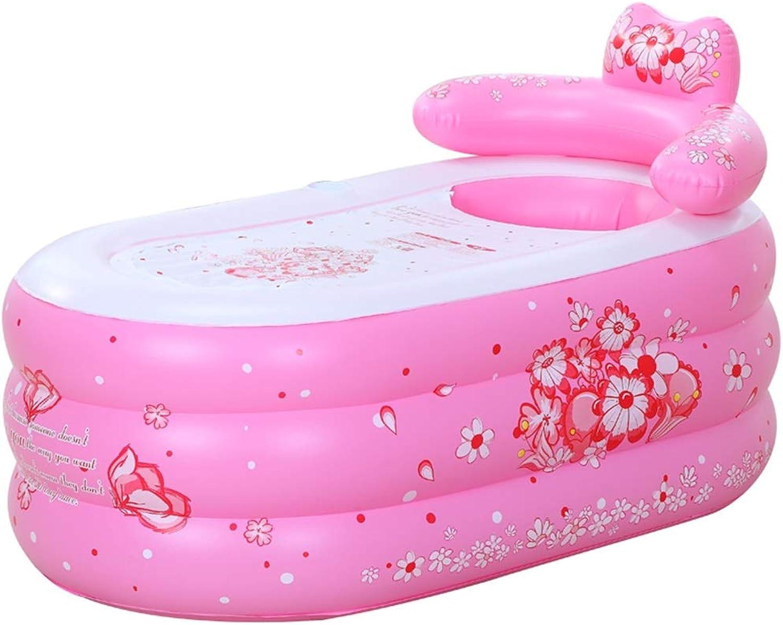 Aufblasbare Badewanne, PVC-Faltbadewanne Dicker Plastikbadefa Badfa 160CM  90CM (Farbe   A)