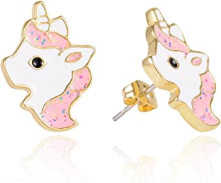 Hypoallergenic Silver Unicorn Stud Earrings for Little Girls Kids Unicorn Jewelry Birthday Party Gifts for Women