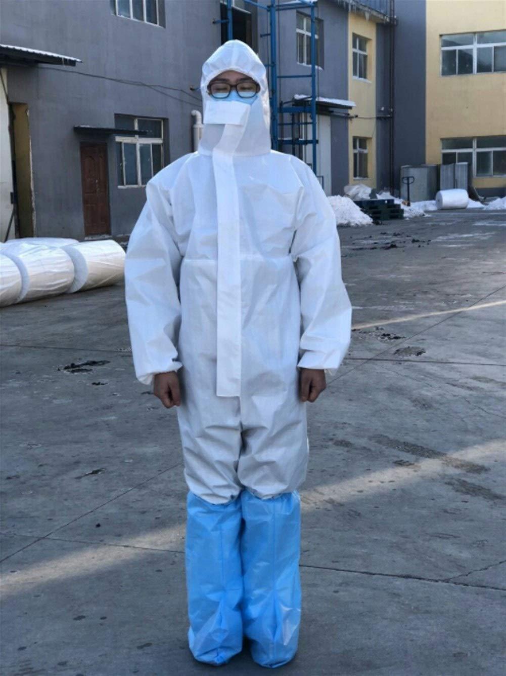HZTWS Traje De Protección De La Ropa De Protección Química Con La Ropa De Plaguicidas Virus A Prueba De Polvo Del Casquillo De Líquido Anti-ácido De Trabajo (3/4/5/6 Tipo) (Color : 5PACK):