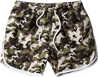 ee9e20247a99e Simayixx Bathing Suits Women's Workout Yoga Hot Shorts Beach Camouflage Printed  Short Pants Sweatpants Teens Swim