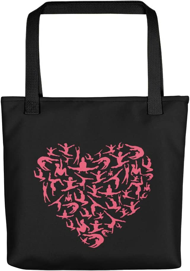 Girls Gymnastics Red Indianapolis Mall Heart - Women Gymnast Tote Canvas Bag 15x15 Max 61% OFF