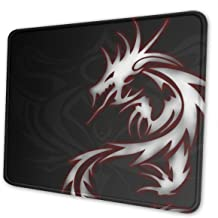 Washable Mouse Pad - Cool Dragon Tribal Logo Non-Slip Gaming Mousepad - 10 X 12 Inch X 0.12''(3mm Thick)- Rectangle Rubber Mouse Mat for Computer/Laptop - 4 Size Available