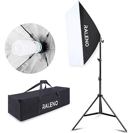 Photo Studio 2x135W Soft Box Continuous Lighting Softbox Light Stand Kit Set UK