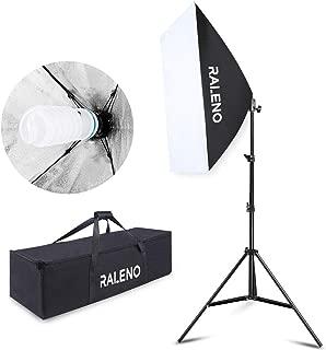 RALENO Softbox 20''x28'' Photography Lighting Professional Photo Equipment with 85W E27 Socket 5500K Video Light Bulb for Filming Portraits Shoot