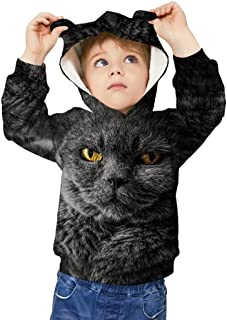 Tsyllyp Boys Girls Creative Hoodies Animal 3D Print Pullover Hooded Sweatshirt Costume