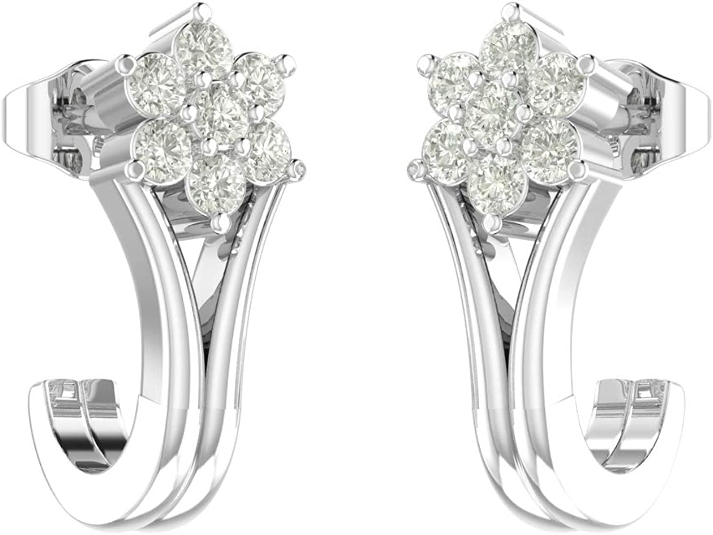 55% OFF Amayra 925 Sterling Silver Diamond P OFFicial store With Earring Butterfly Stud