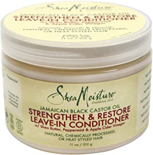 Shea Moisture Jamaican Black Castor Oil Strengthen And Grow Leave-In Conditioner For Unisex, 325 gm