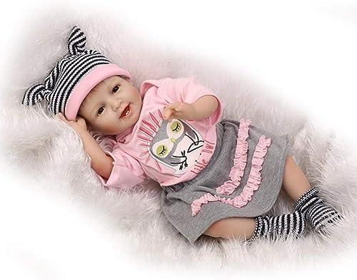 O-YMS Neugeborenes Geschenk Reborn Babys Puppe Weißes Silikon Vinyl Magnetisch Handarbeit Baby Dolls 22Zoll 5cm mädchen Augen Offen