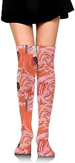 Flamingo Flamingo Mujeres Sobre la rodilla Calcetines de muslo Niña Medias altas 65 Cm / 25.6In