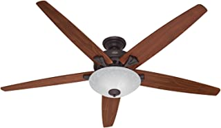 Hunter Indoor Ceiling Fan with light and pull chain control - Stockbridge 70 inch, New Bronze, 55042