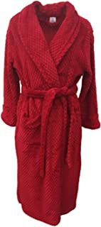 Croft & Barrow Womens Soft Plush Red Dimpled Robe Housecoat